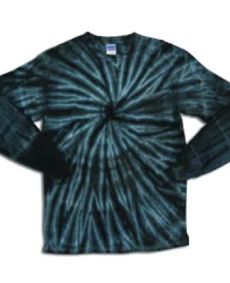 Dyenomite 24BCY Youth Cyclone Tie Dye Long Sleeve  Black
