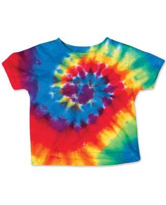Dyenomite 20TMS Toddler Spiral Tie Dye T-Shirt Rainbow