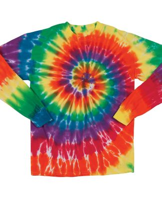 Dyenomite 24BMS Youth Spiral Tie Dye Long Sleeve Michelangelo Spiral