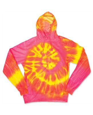 Dyenomite 854WA Wave Tie Dye Hoodie Fluorescent Wave