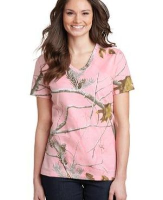 Russell Outdoor LRO54V s Realtree Ladies 100% Cotton V-Neck T-Shirt Catalog
