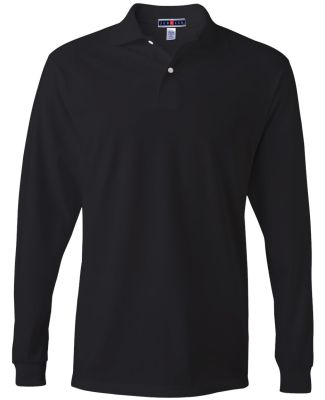 Jerzees 437MLR SpotShield Long Sleeve Jersey Sport Black