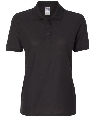 Jerzees 537WR Easy Care Women's Pique Sport Shirt Black