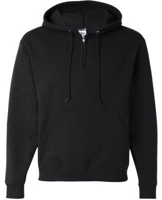 Jerzees 994MR NuBlend Quarter-Zip Hooded Sweatshir Black