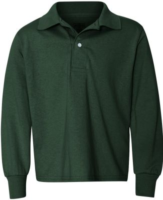 Jerzees 437YLR SpotShield Youth Long Sleeve Sport  Forest Green