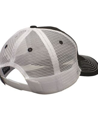 Ouray 50004/Contrast Stitch Mesh Trucker Hat Black/White