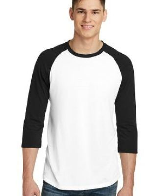 238 DT6210 District   Young Mens Very Important Tee   3/4-Sleeve Raglan Catalog