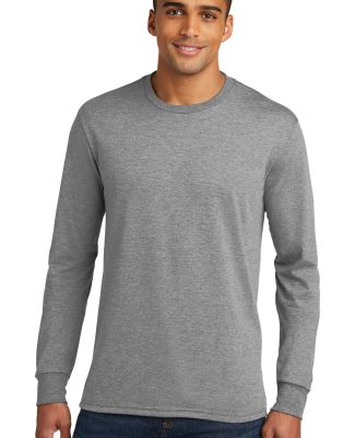 DM132 District Made Mens Perfect Tri Long Sleeve C Grey Frost