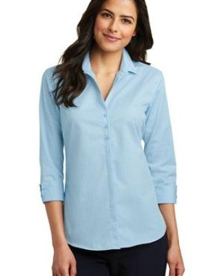 242 LW643 Port Authority Ladies 3/4-Sleeve Micro Tattersall Easy Care Shirt Catalog