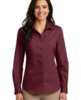 242 LW100 Port Authority Ladies Long Sleeve Carefree Poplin Shirt Catalog