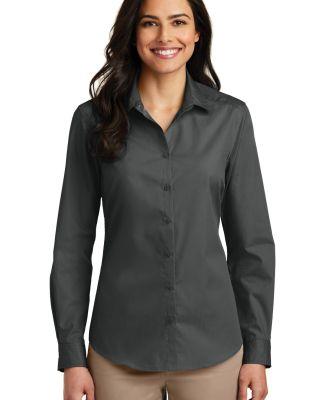 242 LW100 Port Authority Ladies Long Sleeve Carefr Graphite