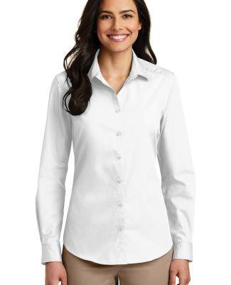 242 LW100 Port Authority Ladies Long Sleeve Carefr White