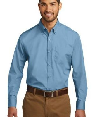 242 W100 Port Authority Long Sleeve Carefree Poplin Shirt Catalog