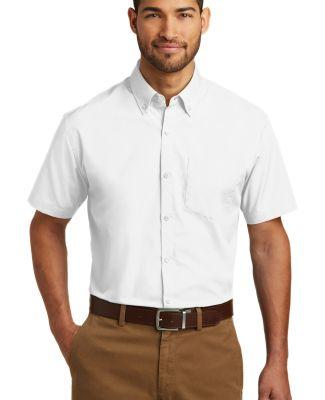 242 W101 Port Authority Short Sleeve Carefree Popl White