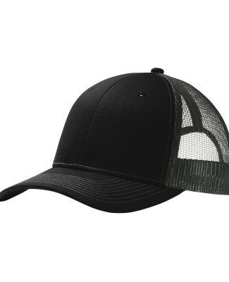 242 C112 Port Authority Snapback Trucker Cap Black/Grey Stl