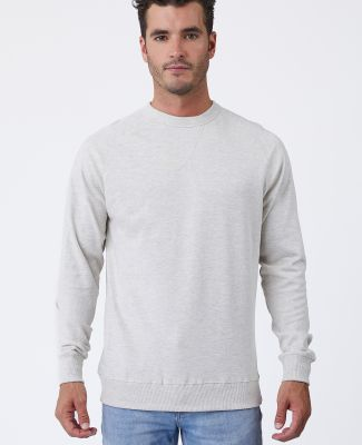 Cotton Heritage M2430 French Terry Crew Pullover Oatmeal Heather
