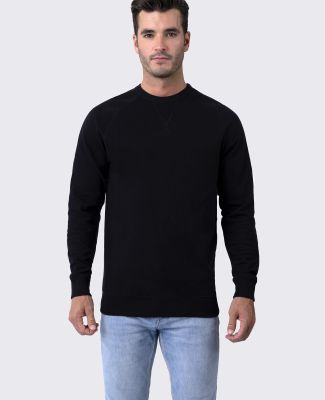 Cotton Heritage M2430 French Terry Crew Pullover Black