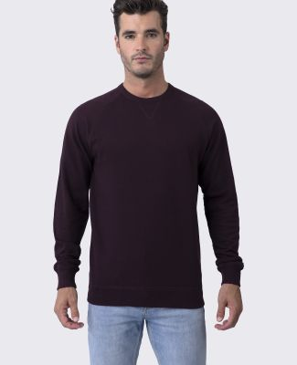 Cotton Heritage M2430 French Terry Crew Pullover Wine