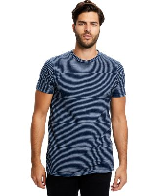 Men's 6 oz. True Indigo Striped Crew Dark Indigo