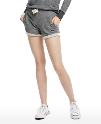 Ladies' Casual French Terry Short Tri Grey