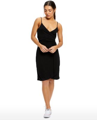 Ladies' Modal Wrap Dress Black
