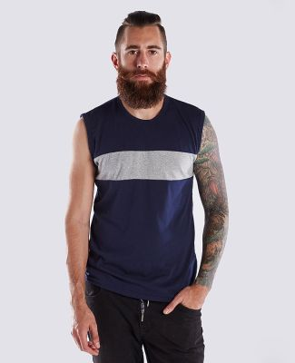 US Blanks US3022/Men's Your Logo HereMuscle Tee Indigo/Smoke
