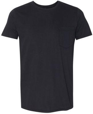 ANVIL 983 Lightweight Pocket T-Shirt Black