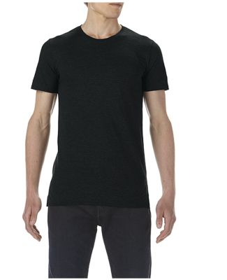 5624 Short Sleeve Long and Lean Tee Black