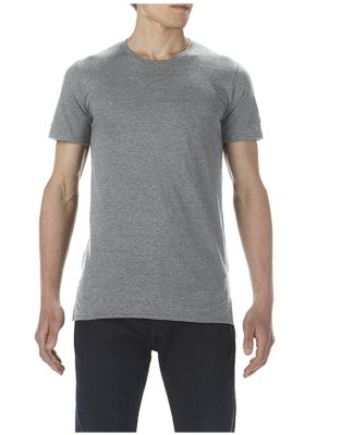 5624 Short Sleeve Long and Lean Tee Heather Graphite