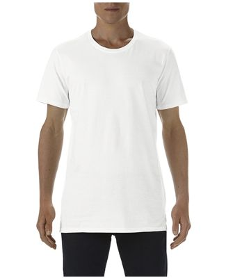 5624 Short Sleeve Long and Lean Tee White