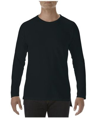 Anvil 5628 Long Sleeve Long and Lean Raglan Tee Black