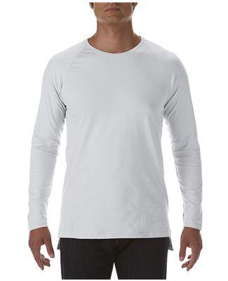 Anvil 5628 Long Sleeve Long and Lean Raglan Tee Silver