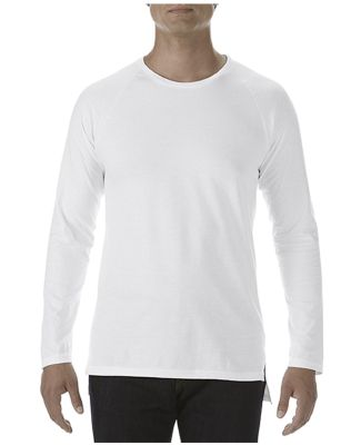 Anvil 5628 Long Sleeve Long and Lean Raglan Tee White