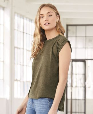 Bella Canvas 8804 Women's Flowy Muscle Tank with Rolled Cuffs Catalog