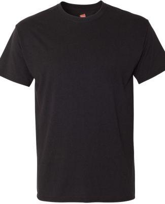 Hanes 42TB X-Temp Triblend T-Shirt with Fresh IQ o Solid Black Triblend