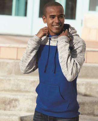 197 8676 Melange Fleece Colorblocked Hooded Pullover Catalog