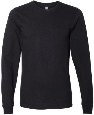 2007W Fine Jersey Long Sleeve T-Shirt BLACK