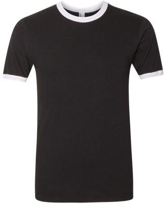 2410W Fine Jersey Ringer T-Shirt BLACK/ WHITE