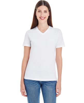 2356W Ladies' Fine Jersey Short Sleeve Classic V-N WHITE