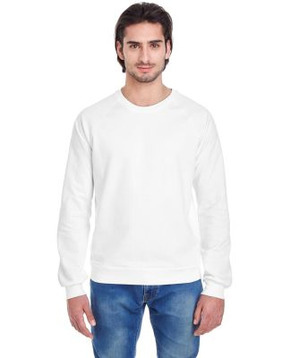 5454W Unisex California Fleece Raglan WHITE