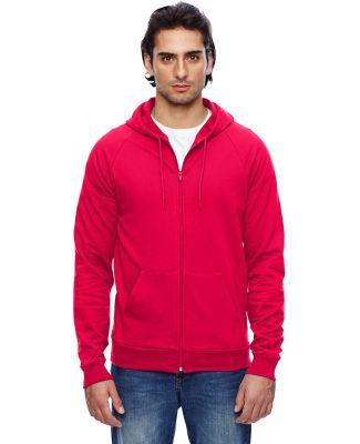 American Apparel 5497W Unisex California Fleece Zi RED