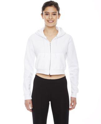 F397W Ladies' Cropped Flex Fleece Zip Hoodie WHITE