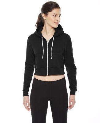 F397W Ladies' Cropped Flex Fleece Zip Hoodie BLACK