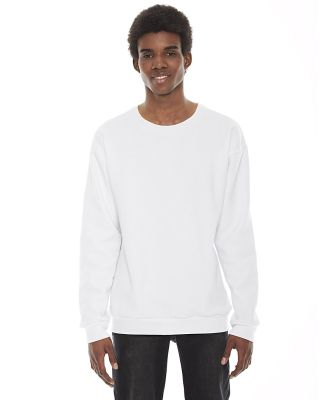 F496W Unisex Flex Fleece Drop Shoulder Pullover Cr WHITE