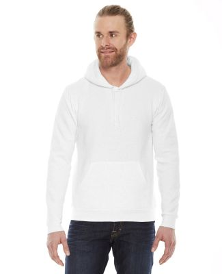 F498W Unisex Flex Fleece Drop Shoulder Pullover Ho WHITE