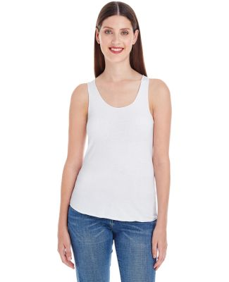 BB308W Ladies' Poly-Cotton Racerback Tank Top WHITE