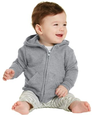 244 CAR78IZH Port & Company Infant Core Fleece Ful Athl Heather