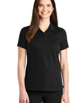 242 LK164 Port Authority Ladies SuperPro Knit Polo Black