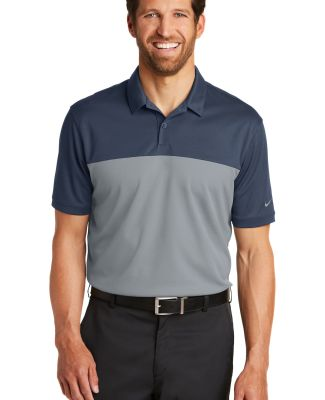 232 881655 Nike Golf Dri-FIT Colorblock Micro Piqu Navy/Cool Grey