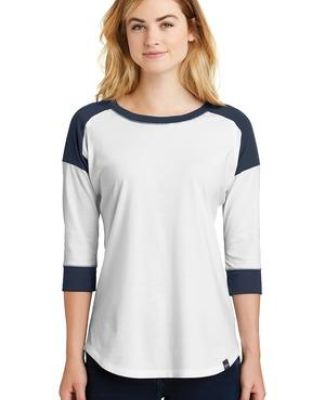1001 LNEA104 New Era® Ladies Heritage Blend 3/4-Sleeve Baseball Raglan Tee Catalog